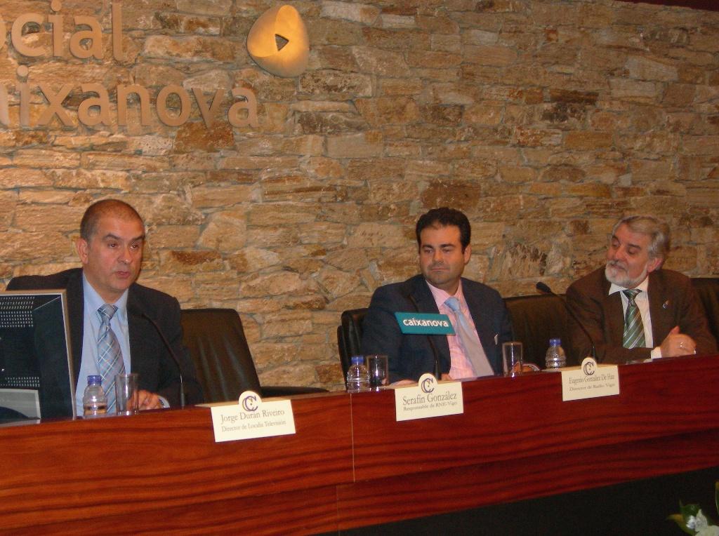 Jorge Durán, Eugenio González e Xesús Palmeiro