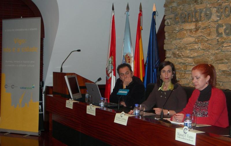 Roberto Relova, María Pereira e Lola Correa presentados por Manuel F. Vieites