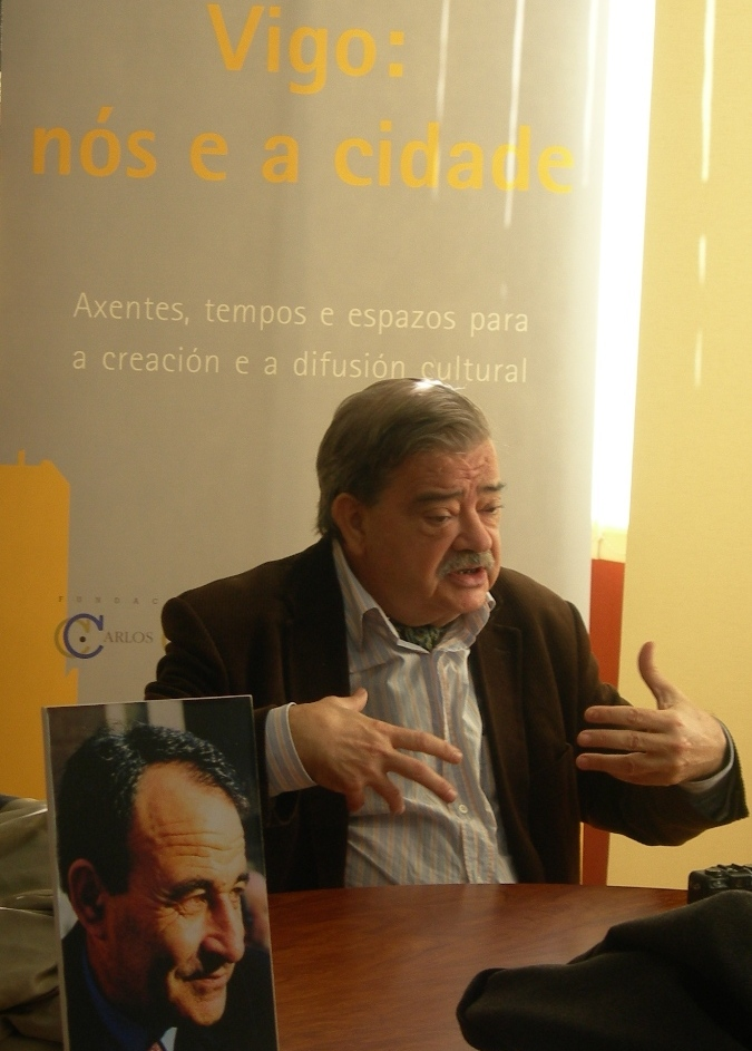 Hormigón na presentación das publicacións da ADE na sede da Fundación Carlos Casares