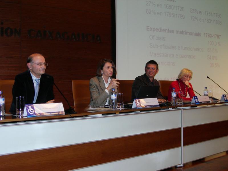 Alfredo Vigo Trasancos, Ofelia Rey Castelao, José María Cardesín e Carmen Fernández Casanova