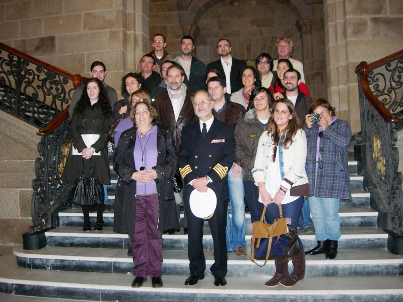 Algúns dos visitantes na Base Naval de Ferrol