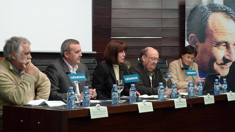 Antón Seoane, Carlos Carballo, Olivia Rodríguez, Xosé María Fonseca e María José Domínguez