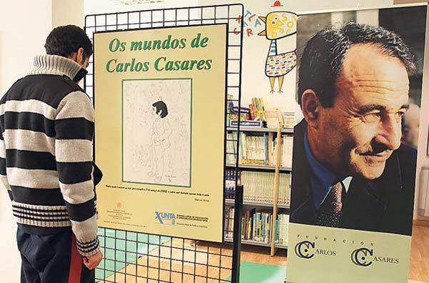 Exposición Os mundos de Carlos Casares na Biblioteca de Moaña (Fonte: Faro de Vigo - Carmen Giménez)