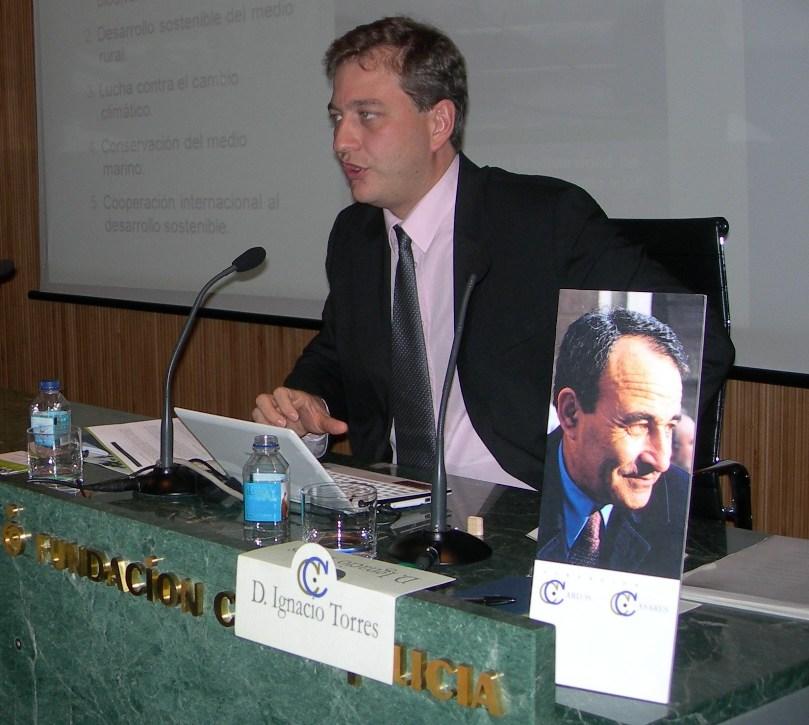 Ignacio Torres, da Fundación Biodiversidad, no IV Ciclo Ciencia e Sociedade organizado pola Fundación Carlos Casares