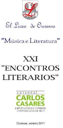 XXI Encontros Literarios do Liceo de Ourense - Cátedra Carlos Casares